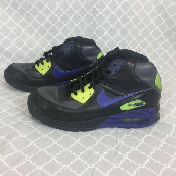 new style a471e 4601d Nike Air Max Airmax 90 Boots, Black Purple Yellow